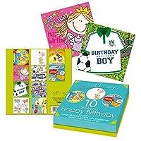 8 x Kids Birthday Greeting Card Mix of Boys Girls