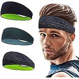 Roysmart Sporthoofdband, zweetband, antislip voor joggen, hardlopen, wandelen, fietsen, hoofdbanden voor heren en dames, verp