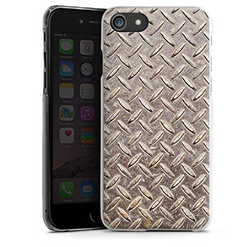 Apple iPhone X Silikon Hülle Case Schutzhülle Stahl Look Metall Hard Case transparent