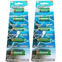 10x 23bis pilas alcalinas 12V 2Blistercards par caja de 5alcalinas A23/MN21/23A/V23GA/L1028, A23marcas Eunicell distribución Alemania
