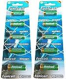 10 x 23A 12V ( 2 Blistercards a 5 Batterien ) Quecksilberfreie Alkaline Batterien MN21, 23A, V23GA, L1028, A23 Markenware Eunicell