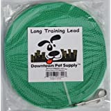 Long Dog Puppy Obedience Recall Training Agility Lead, Leash GREEN, BLACK, RED, BLUE, or ORANGE - by, Pet Supply City, LLC by Pet Supply City, LLC (English manual)