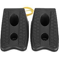 Akozon Car Wheel Stopper 1 Paar Car Wheel Chocks Reifenstopper Block Reifen Anti-Rutsch-Stoppblock 8,2 x 5,5 x 4,7 Zoll