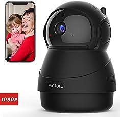 Victure 1080P FHD Wlan IP Kamera ,Überwachungskamera mit Nachtsicht, Bewegungserkennung, Zwei-Wege Audio ,Sicherheitskamera Home Indoor-Kamera für Haustier/Baby Monitor (Black)