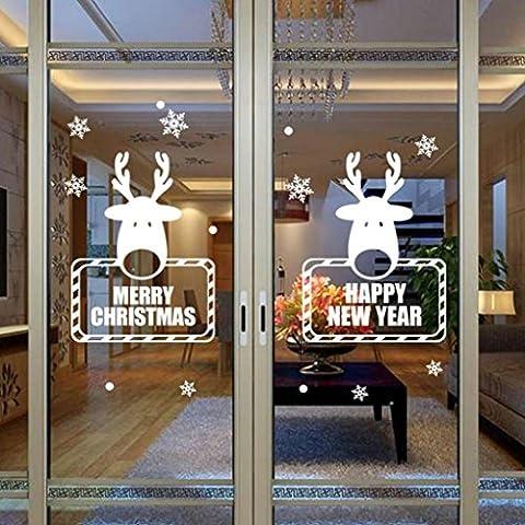 OverDose Christmas NoëL Autocollant Mur De Flocon De Neige Décoration
