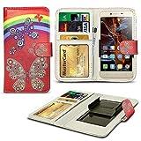 N4U ONLINE - Verschiedene Muster Clip Serie PU- Leder Brieftasche Buch Hülle für Oppo N1 Mini - Regenbogenforelle