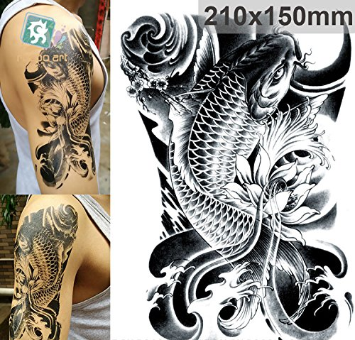 arte-corporal-pegatinas-tatuaje-removibles-temporales-carpa-negra-pegatina-tatuaje-modavida-fashionl