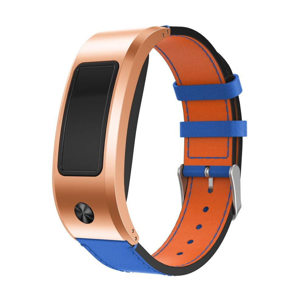 BZLine Luxury Leather Replacement Watch Strap for Garmin Vivofit/Vívofit 2 Fitness Tracker Robust and Durable Easy to Adjust Band Length: 180 mm – 230 mm Black, Blue, Coffee Brown