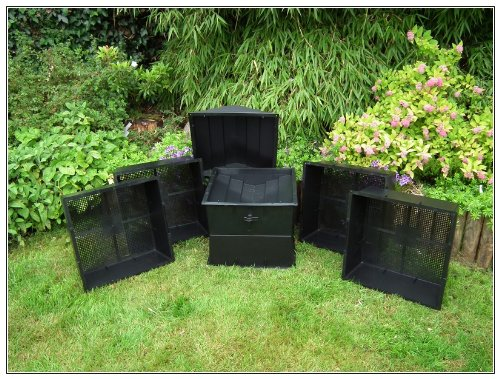UK Made Wormcity Wormery 4 Composting Trays (100 Litre Size) Black – Includes Worms