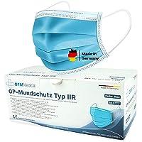P.A.C. OFM Medical OP-Mundschutz Typ IIR 50 Stück, CE Zertifiziert, Atemschutz Maske, OP Mundschutz, Mund Nasen Maske…