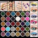 immagine prodotto LuckyFine 30 Colori Glitter Ombretti per Occhi Trucchi dell'occhio Professionali Ombretti Cosmetici Tavolozza per Trucco Occhi, Trucco e Nail Arte