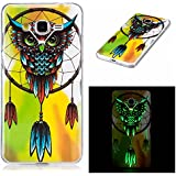 Coque Galaxy Grand Prime, BONROY® Samsung Galaxy Grand Prime / SM-G530 Housse Luminous Effect Noctilucent Green Glow in the Dark Ultra Mince Souple Gel TPU Bumper Poussiere Resistance Anti-Scratch Coque Housse Pour Samsung Galaxy Grand Prime / SM-G530 - Hibou