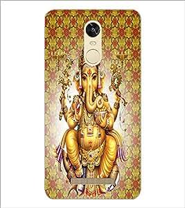 PrintDhaba Lord Ganesha D-4730 Back Case Cover for XIAOMI REDMI NOTE 3 (MEDIATEK) (Multi-Coloured)
