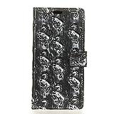 Adrian B Gonzalez HTC One X10 Hülle, 3D-Textur Heavy Metal Style Flip PU Ledertasche für HTC One X10 (Farbe : 1)