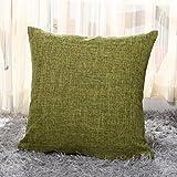 Zedtom Kissenbezug aus Leinen / Baumwolle bedruckt Vintage-Design für Sofakissen (mehrfarbig) grün