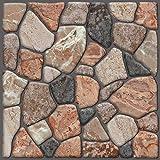 Beyond Zimmerdeko Fliesenaufkleber 3D Steinwandoptik Wandaufkleber 30 x 30 cm, 6er-Set, Selbstklebend, Naturstein 503