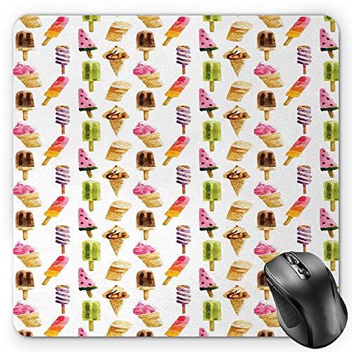 HYYCLS Ice Cream Krabbel-Teppich, wasserfest, mit Verschiedenen Produkten, schockdämpfend, Standardgröße, rechteckig, Nicht reflektierend, Mehrfarbig - Rechteckige Mehrfarbige Teppiche