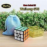 Moyu Weilong GTS Cubo de Velocidad Cubo Mágico 3x3 Rompecabezas Puzzle Sticker Negro
