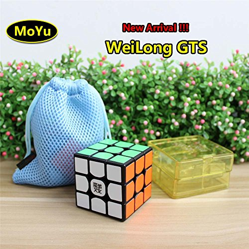 Moyu Weilong GTS Cubo di Velocità 3x3 Magic Cube Puzzle Sticker Nero