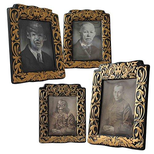 Preis am Stiel 2er Set Halloween Hologram Bild   Deko   Grusel l Monster   Horror   Wanddekoration   Bilder   Halloween Accessoires   Hologram