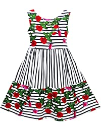 Sunny Fashion Robe Fille Papillon Cherche Fleur Broderie Chinois Style