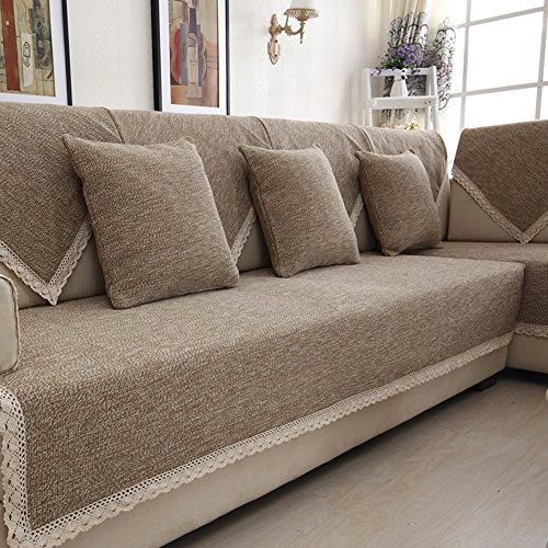 Copridivano,quattro stagioni sistemi fluidi cuscini divano anti-slittamento tinta unita coprisofà semplice elegante copertina 1pc-e 110x240cm(43x94inch)