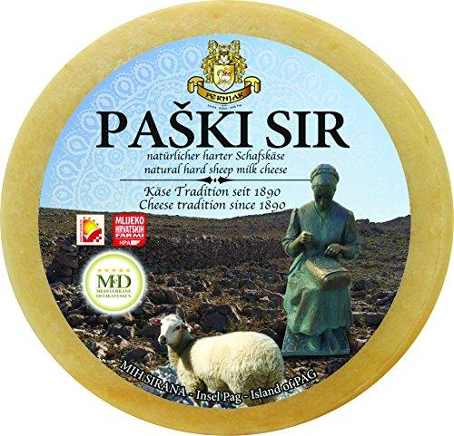 Preisvergleich Produktbild Ganzer Laib Zertifizierter PAGER KÄSE - PAŠKI SIR Schafskäse ca. 2850g Hartkäse Schaf aus Dalmatien mit Meersalz aus der Saline von Pag