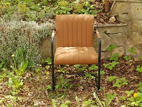 Kare 79400 Stuhl mit Armlehnen Buster cognac (Stühle Buster)