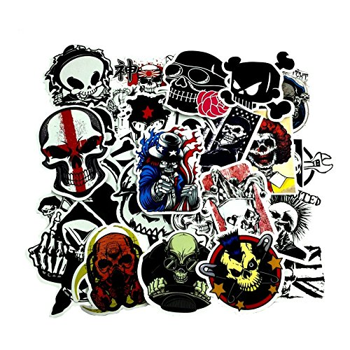 50 Unds friki pegatinas stickers calaveras diseños distintos mix...