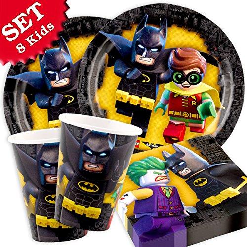 geburtstagsfee Lego Batman Baisset, 8 Kids, 36tlg