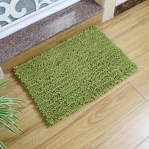 WANG-shunlida Chenille Fußmatte, Bad Rutschfeste saugfähiger Teppich, Schlafzimmer Badezimmer Matte, Haushalt Maschinenwäsche Fußmatte,40 X 60 cm, Gras Grün - Badezimmer Gras-teppich