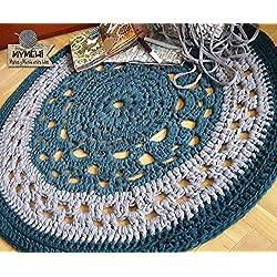 Hecha a Mano. Alfombra de mandalas a crochet 105cm. Última disponible.