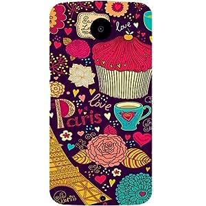 Casotec Paris Flower Love Design Hard Back Case Cover for Motorola Nexus 6