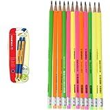 Penna a Sfera Ecosostenibile - STABILO pointball - 79% Plastica Riciclata - Pack da 2 - Blu + Matita in Grafite Eco Pack…