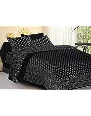 Dormir Tex Print Jaipuri Cotton Double Bedsheet with 2 Pillow Cover-