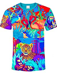 aofmoka Ultravioleta Fluorescente Arte Neón Blacklight Imprimir Camiseta v3D873vkl