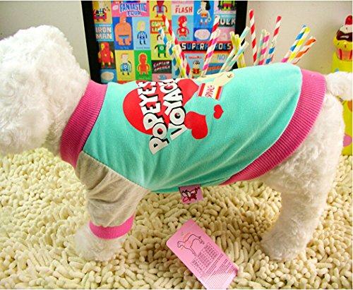 fashion-dog-pet-lovely-couple-t-shirt-oliver-coton-loisirs-popeye-convient-pour-le-printemps-ete