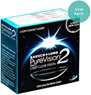 Bausch & Lomb Pure Vision 2 Contact Lense - 6 Pieces (-1.0)