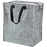 Ikea Polypropylene 10 Kg Black and White Bag for Laundry and Groceries