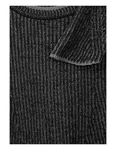 Cecil Pullover Rounded Hemline, Pull Femme Schwarz (Black 20001)