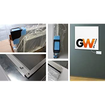 Glasw/ärmt Infrarotheizung Infrarot 550 Watt Metall-Premium Weiss Wand /& Deckenmontage Heizung