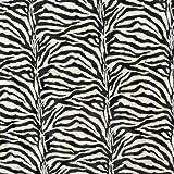Plüsch Velour Fellstoff Fellimitat Kunstfell Stoff Zebra