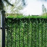 HOLZBRINK Cubierta de la valla GreenFences 210 cm Cubierta del balcón Cubierta para terraza Vallado con seto artificial sintético siempre verde Ocultación de vallado, 4 m