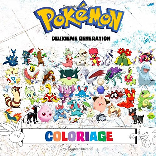 Pokémon Coloriage 100 Pages à Colorier Pokémon Versions Or Argent et Cristal