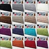 Hochflor Shaggy Teppich Langflor Carpet Wohnzimmer einfarbig Rechteck / Rund Teppiche, Maße:60x110 cm, Farbe:Taupe