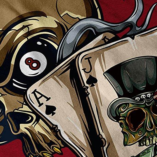 Schädel Poker Karte Kasino Spielen Tod Damen S-2XL Muskelshirt | Wellcoda Rot