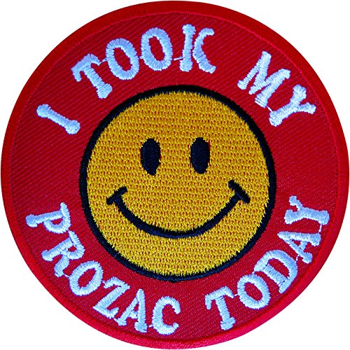 i-took-my-prozac-today-iron-on-patch-sew-on-badge-clothes-embroidered-applique