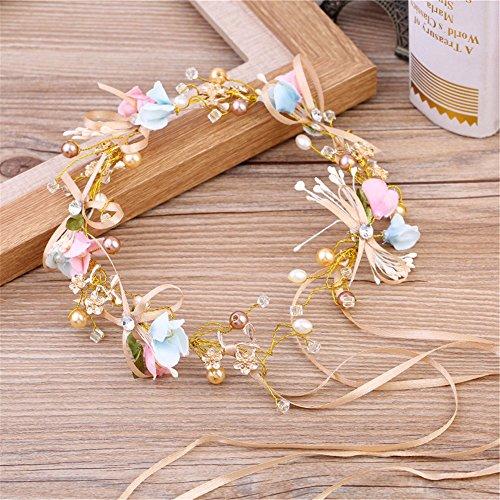 Weddwith Kopfschmuck Koreanischer Stil Braut Kopfschmuck Tiara handgemacht Perlen Stirnband...