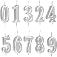 Lot de 10 bougies d'anniversaire numérotées de 0 à 9 à paillettes pour décoration de gâteau d'anniversaire, fête d…