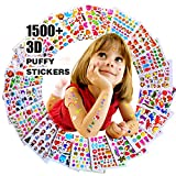 Autocollants 1500+, Stickers 3D en Relief Enfant, Fille Garçon de Grand Lot de 20 Planches Toutes Différentes Scrapbooking, journaux de Balle, Autocollants Adulte, y Compris Les Animaux